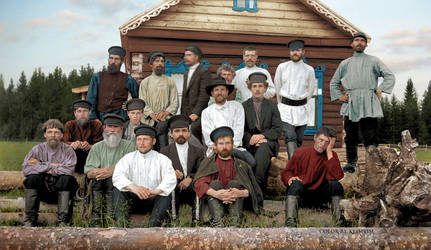 Crew of furniture makers, 1900s by klimbims