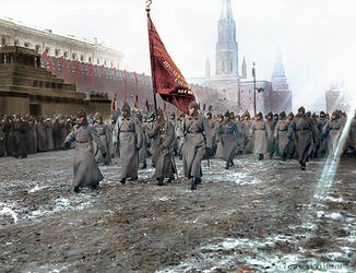 Red Army parade, Red Square 1925 by klimbims