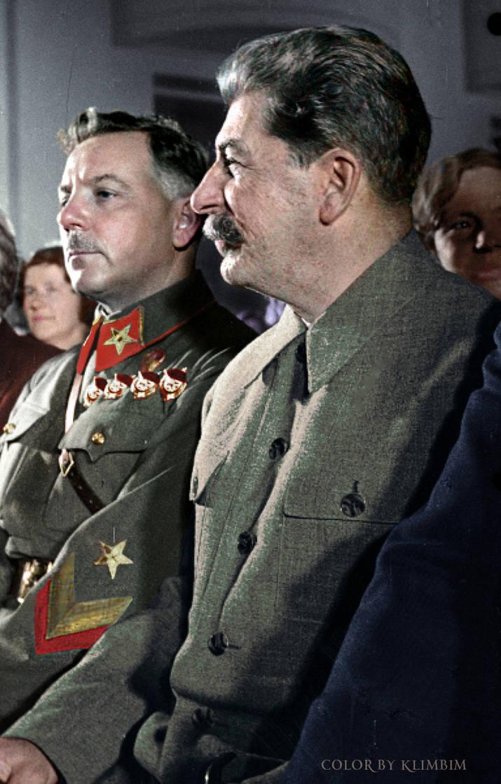 Stalin and Voroshilov, 1937 by klimbims