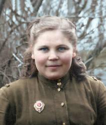 20 years old Soviet nurse, WW2, 1944 by klimbims