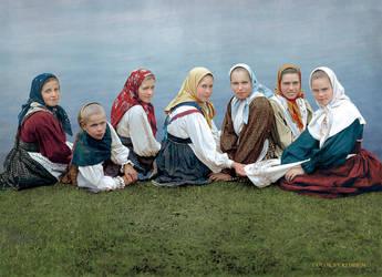 Russian peasant girls by klimbims