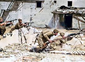 Liberation of the village, Crimea, 1943