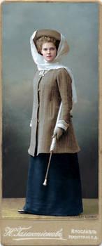 A pretty lady from Yaroslavl, 1908