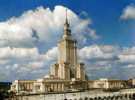 Palace of Culture and Science in Warsaw, 1955