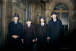 Chamberlain, Daladier, Bonnet, Halifax 1938