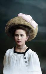 Pretty lady from Kazan, 1916