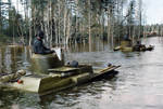 Red Army amphibious tanks crossing the river, 1941