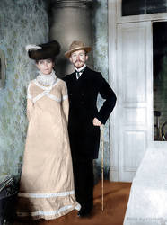 Boris Kustodiev with his wife Julia 1903