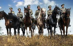 A group of mounted scouts WW1