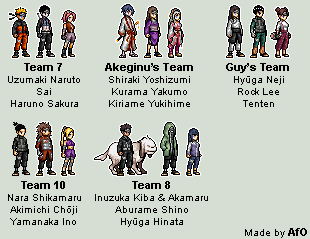 Naruto Sprites By Afo Edit 2 By Afo2006 On Deviantart