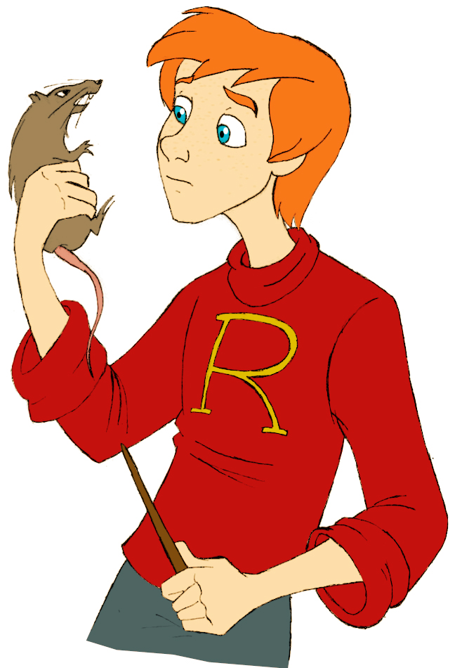 Ron Weasley and Scabbers by afo2006