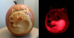 Doge pumpkin