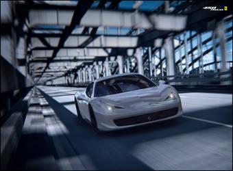 White 458 Italia by automatte