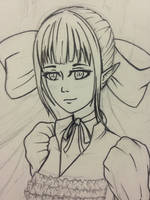 WIP Erika OC (Art trade) by person54901