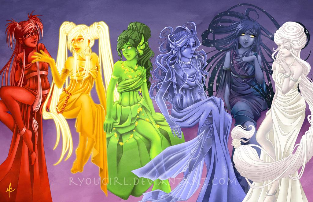 Monocolor Girls by RyouGirl