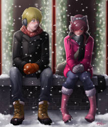 Sitting in the Snowfall by RyouGirl