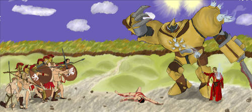 Nymus: Golem Fight by Nharun