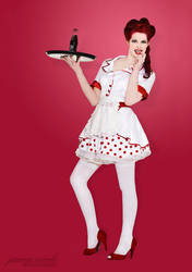 Diner Girl Pin-Up