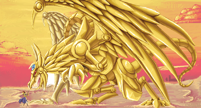 Winged Dragon Of Ra And Atem By HorrorDance