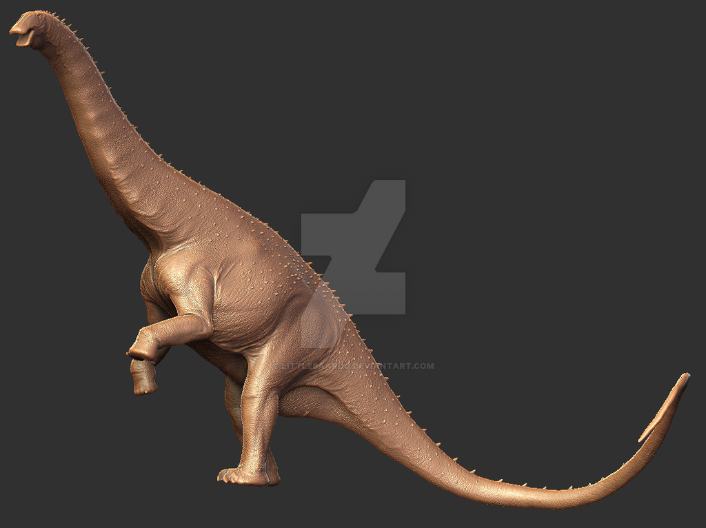 Apatosaurus louisae Digital Sculpture by TyrantTR