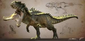 Hyperendocrin Giganotosaurus - The Isle by LittleBaardo