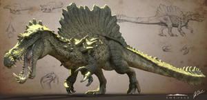 Hyperendocrin Spinosaurus - The Isle by LittleBaardo