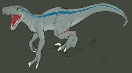Blue the Raptor sculpture reference by ClockworkShrew