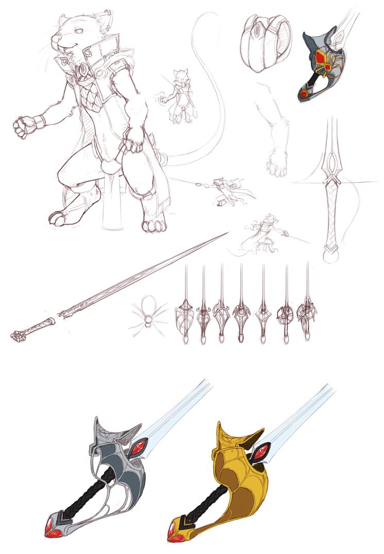 Hywel character design part 1 by ClockworkShrew