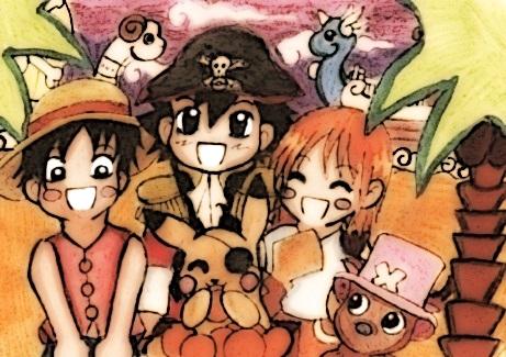 Pokemon trifft One Piece by KawaiiDarkAngel