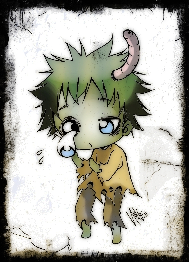Chibi Zombie by Sureya by KawaiiDarkAngel