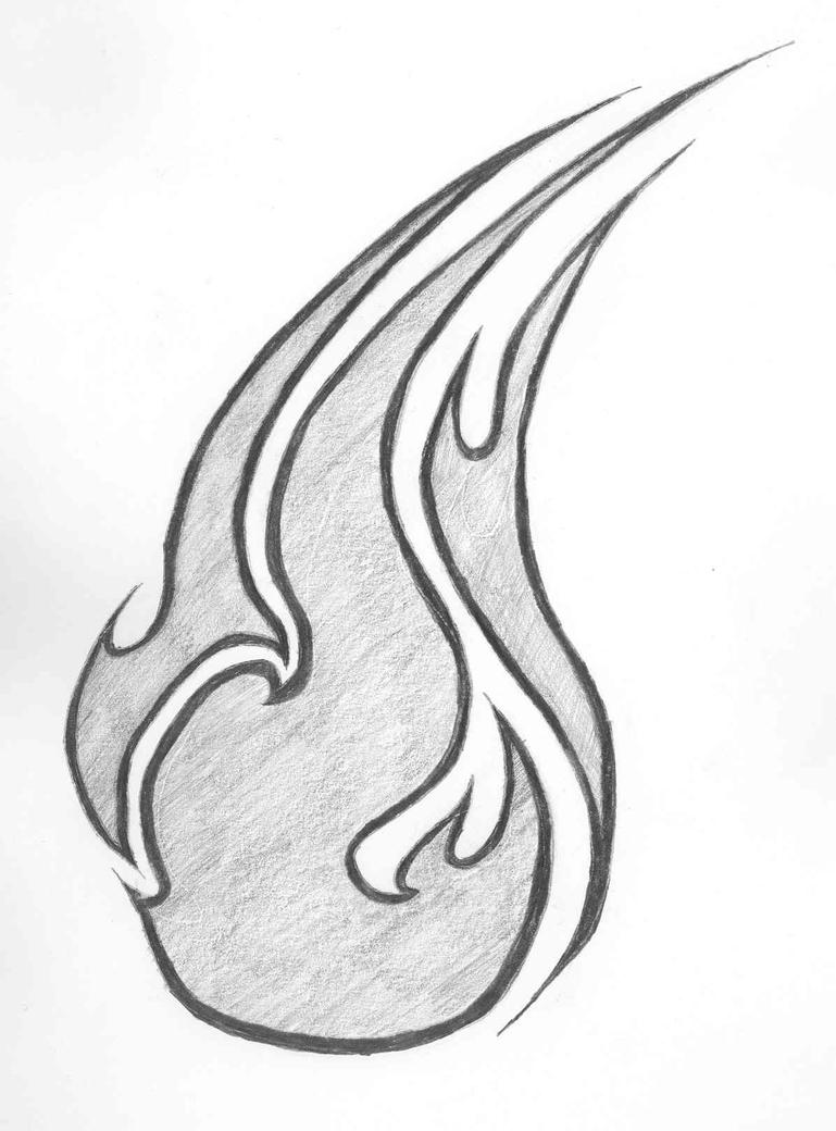 Tribal flame by fuel the rage on deviantart for Tribal flames tattoo