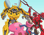 Cliffjumper and Bumblebee