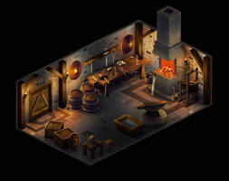 Isometric smithy by Ainkurn