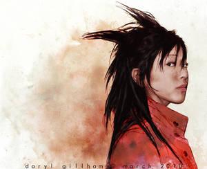 Utada with spikey hair