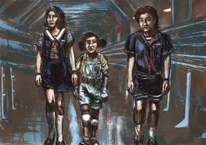 Inktober 2019-Steve, Robin and Erica