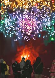 Huevember2019 Fireworks show