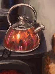 HUEVEMBER 2019 kettle on stove