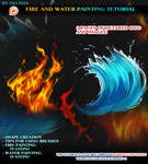 Fire and Water painting tutorial preview