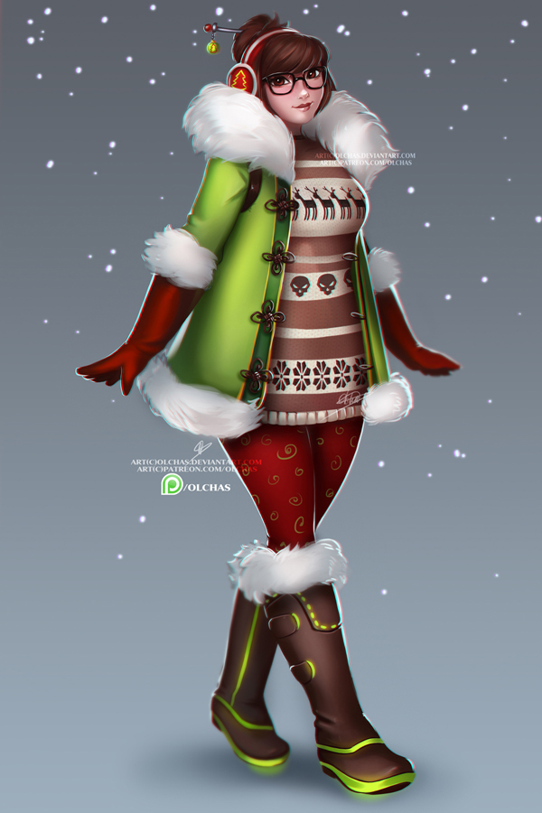 Christmas Mei concept by OlchaS on DeviantArt