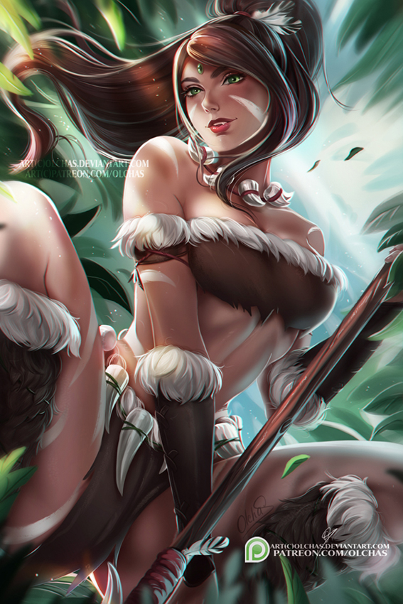 Nidalee  :NSFW optional: by OlchaS