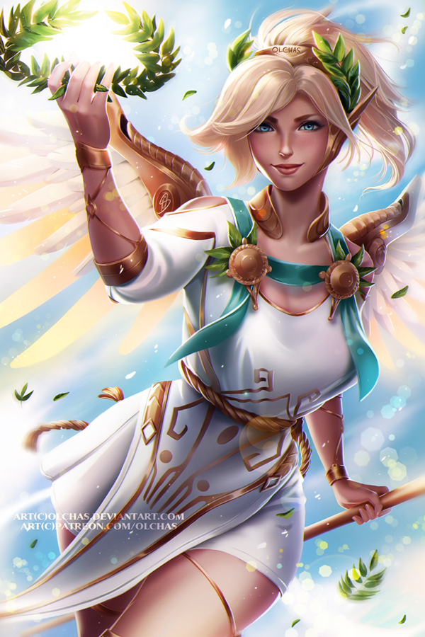 Winged Victory Mercy by Lespapillions on DeviantArt