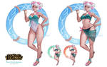 Pool Party Qiyana concept art