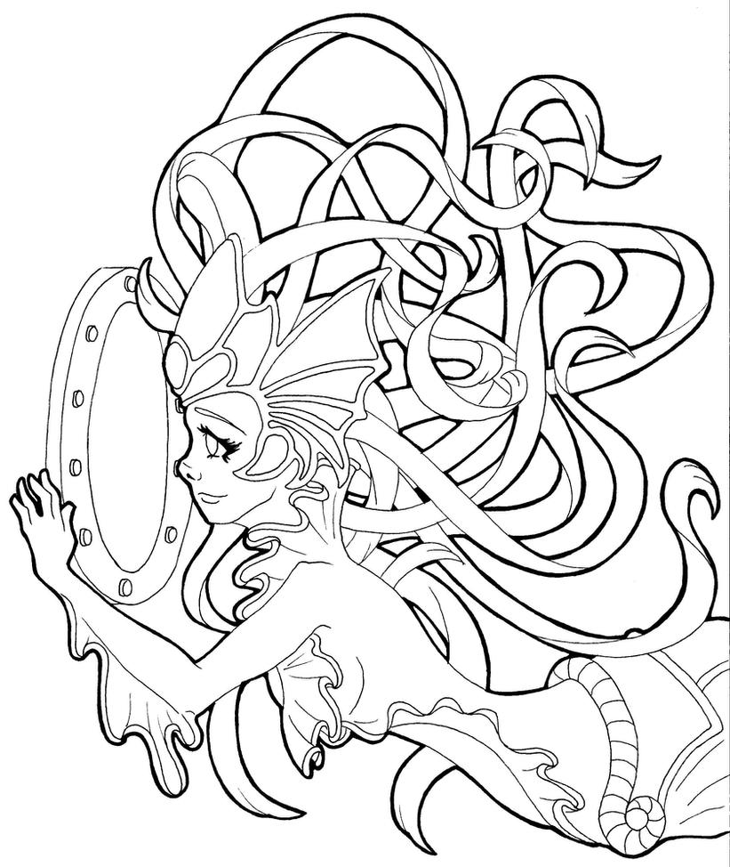 Nami the tidecaller from league of legends by tiffanytiger for League of legends coloring pages