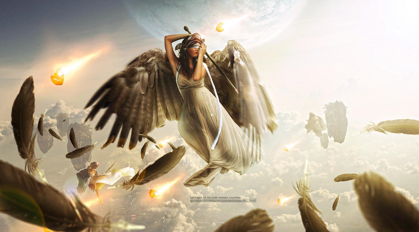 The Flight of the Dark Winged Valkyries by Vanleith