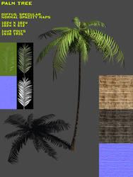 Palm Tree WIP by Yughues
