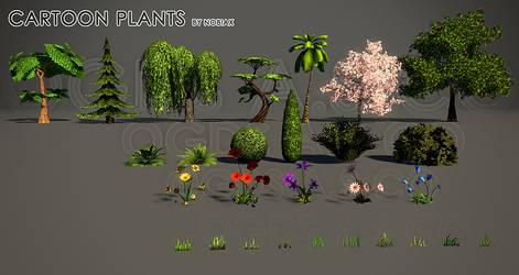 OGDS Cartoon plants by Yughues