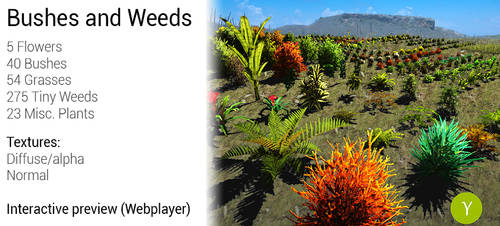 Unity: Bushes And Weeds