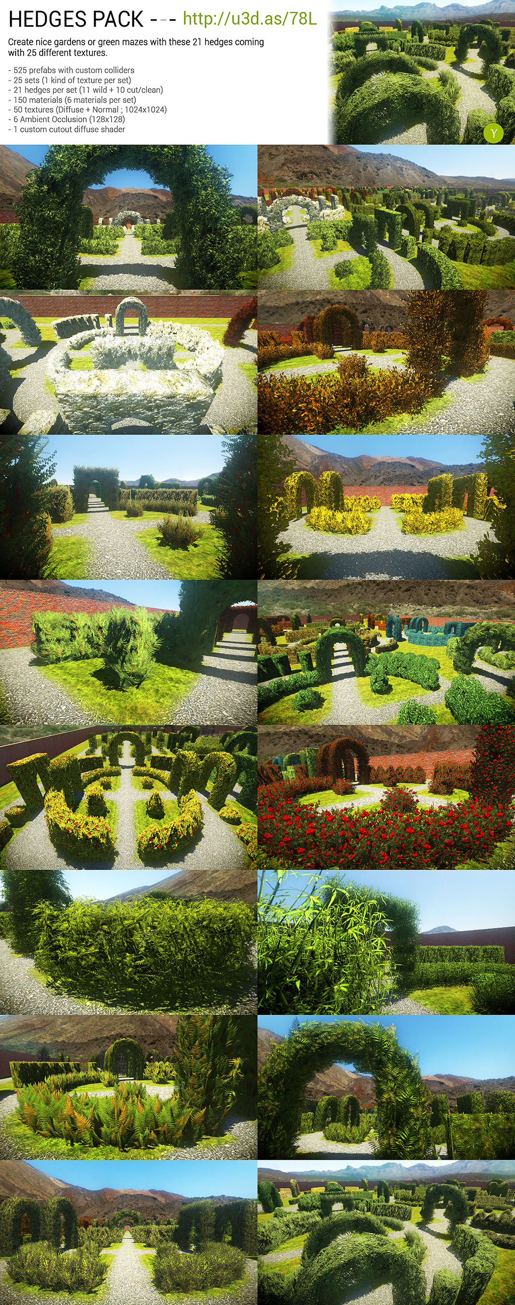 Unity : Hedges Pack by Nobiax