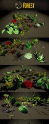 The Forest : plants showcase by Yughues