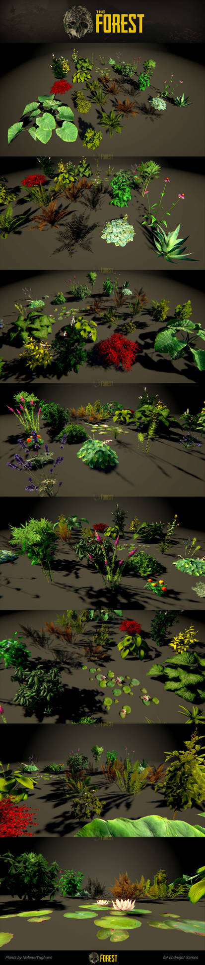 The Forest : plants showcase